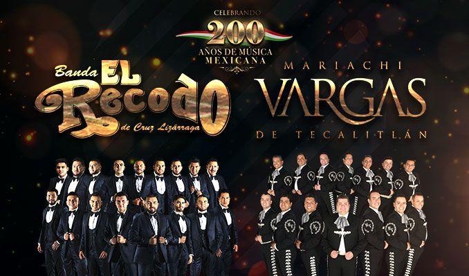200 Anos De Musica Mexicana: Banda El Recodo & Mariachi Vargas de Tecatitlan at Don Haskins Center